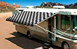 Shade Pro RV Vinyl Awning Replacement Fabric - Checkered Flag 14' (Fabric 13'2'')