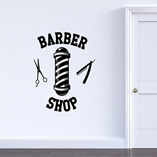 (Vinyl Wall Art Decal - Barber Shop Sign - 30