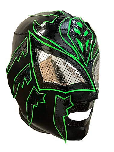 Sombra Lycra PRO Adult Lucha Libre Wrestling Mask (pro-Lycra) Black/Green -