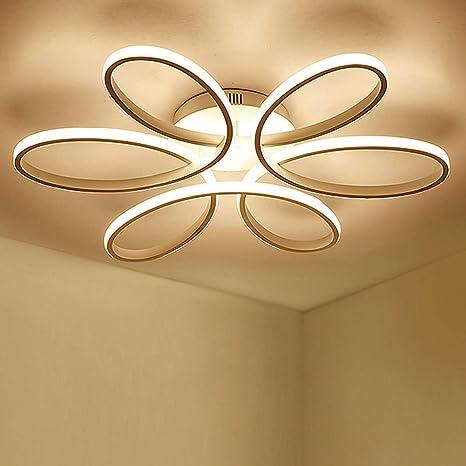 Lámpara de techo LED de 85 vatios Forma de flor creativa ...