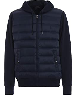 Veste bi-matière Ralph Lauren noir pour homme  Amazon.fr  Vêtements ... 5ed34891a952