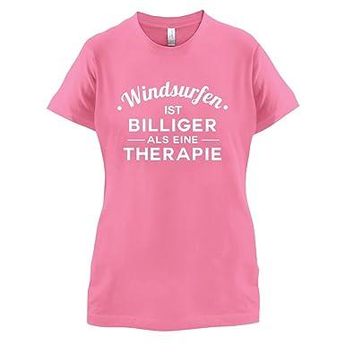 Windsurfen ist billiger als eine Therapie - Damen T-Shirt - Azalee - S