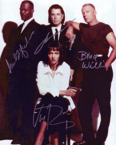 Pulp Fiction Cast with Samuel L. Jackson & John Travolta Signed Autographed 8 X 10 Reprint Photo - Mint Condition