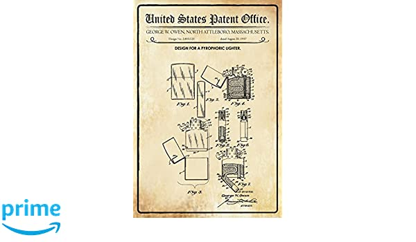 Compra Schatzmix United States Patent Office - Design for a pyrophoric Lighter - Entwurf für ein pyrophorisches Feuerzeug - Owen, Massachusetts, ...