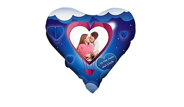 Cojín personalizado impresión personalizada fotos globo Love ...