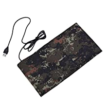 Reptile Heating Mat USB Heating Sheet Carbon Fiber for Small Animals No Switch for Temperature Controlling Size S