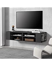FITUEYES TV Stand Wall Mounted Media Audio/Video Console Shelf AV Entertainment Center Stand DS212002WB