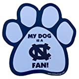 All Star Dogs NCAA North Carolina Tar Heels Paw Print Car Magnet