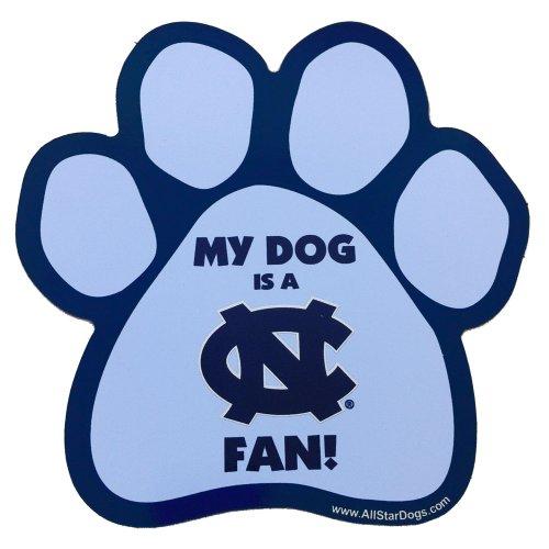 NCAA North Carolina Tar Heels Paw Print Car Magnet