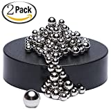 Magnetic Ball, Sculpture Desk Toy, Decompression Toys with Stainless Steel Ball Stress Relief Office Decoration Intelligence Development ( 170 balls)-2 PACK