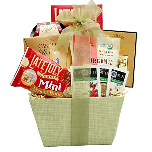 Broadway Basketeers Organic and Natural Healthy Gift Basket - A Healthy Gifting Idea (Organic Herbal Tea Gift Baskets)