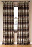 Carstens Rugged Earth Collection Drapes, Brown