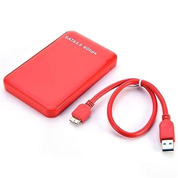Amazon.com: Shentesel - Carcasa externa para disco duro (2,5 ...