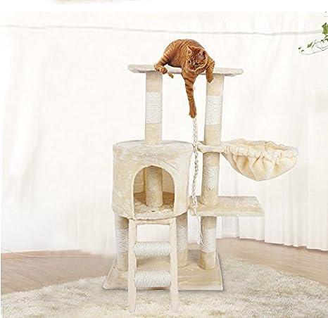 Árbol de Gato Marcos de Escalada para Gatos Nivel Múltiple Torre de Gato con Escalera Juguetes