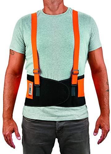 Ergodyne ProFlex 100HV Economy Hi-Vis Back Support Belt, Large, Orange by Ergodyne (Image #2)