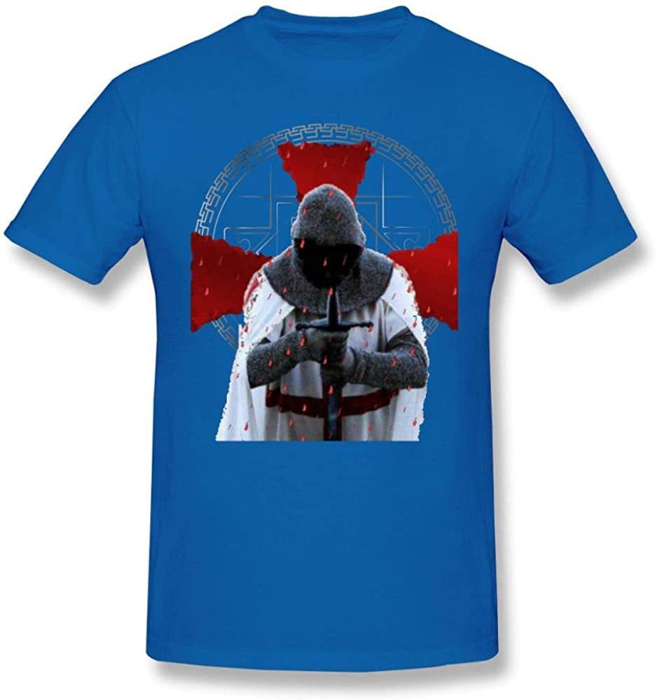 Templar T Shirt Templar Knight T Shirt Distressed Cross Medieval Fraternity T-Shirt Camisetas Hombre Cotton Graphic tee Shirt Tshirt Blue M: Amazon.es: Ropa y accesorios