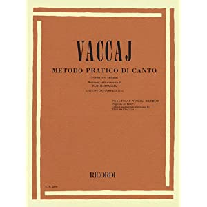 Practical Vocal Method (Vaccai) – High Voice: Soprano/Tenor – Book/CD