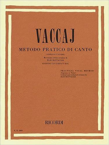Practical Vocal Method (Vaccai) - High Voice: Soprano/Tenor - Book