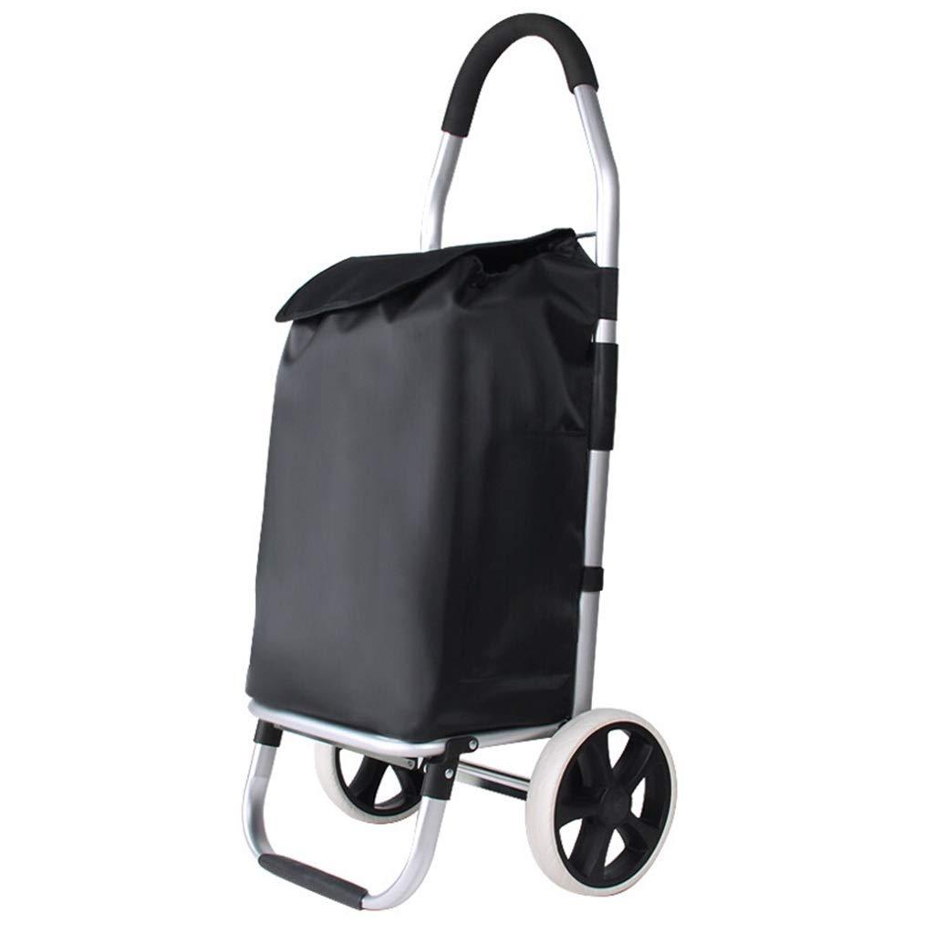 アルミ合金折りたたみポータブルショッピングカート購入食品小型カートトロリーカート荷物プラットフォームカート   B07QJB6GJB