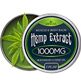 Premium Hemp Balm - Ultra Strong Natural Pain Relief - 1000mg Hemp Extract