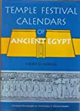 Temple Festival Calendars of Ancient Egypt, El-Sabban, Sherif, 0853236232