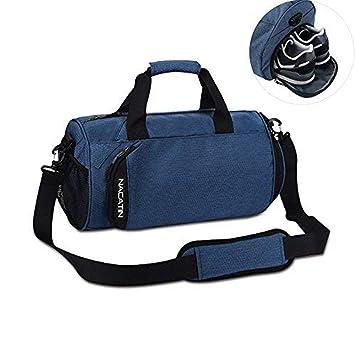NACATIN Bolso Deportivo de Moda con Compartimento para Zapatillas Deportes Hombre, Bolso de Mano 25L 50 × 24 × 24cm, Bolsos Mujer, Niño con Alta ...