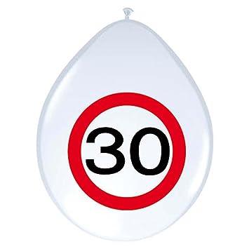 Amakando Balón de Aire Globo 30 cumpleaños señal de tráfico 30 cm ...