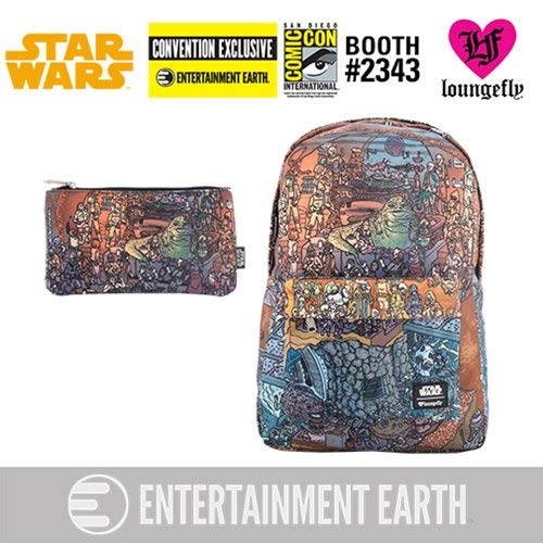 Loungefly Star Wars Jabba's Palace Backpack Pencil Case Set - EE Excl. ()