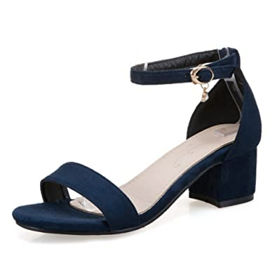 SMILICE Elegant Sandalen mit Blockabsatz Open Toe Schuhe