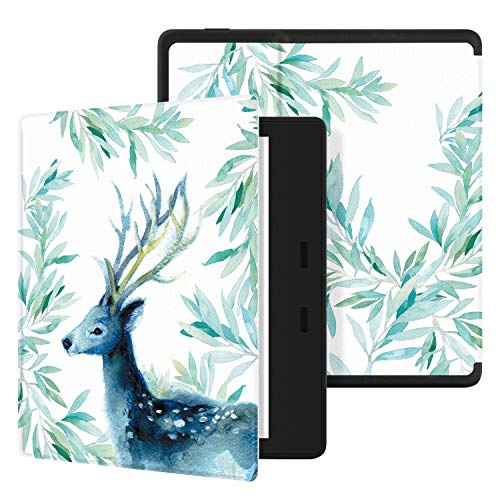 """Ayotu Colorful Case for All-New Kindle Oasis 10th Gen, 2019 Release /& 9th Gen, 2017 Release PU Leather Smart Waterproof Cover,Auto Wake//Sleep,ONLY Fits All-New 7/"""" Kindle Oasis,KO The Boy and Fox"""