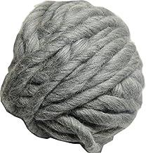 FloraKnit 0.55 lb 100% Merino Wool Super Chunky Yarn Bulky Roving Yarn for Arm Knitting,Crocheting Felting,Making Rugs Blanket and Crafts 27 Yards Gray