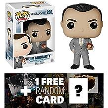 [Patrocinado] Jim Moriarty: Funko POP. X Sherlock figura de vinilo + 1última intervensión TV temática cartas coleccionables Bundle [60541]