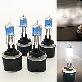 Mega Racer Combo 2 Pair 880 (Fog Light Headlight) 884 885 890 892 893 899 White 5000K Xenon Halogen 27W Lamp Bulb Stock Replace USA
