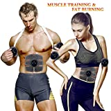 Cheap MMlove Electric ABS Stimulator with 10 Gel Pads,Portable Abdominal Muscle Trainer for Men Woman,EMS Abdominal Muscle Exerciser with Rhythm Soft Impulse-Simple Operation for Abdomen/Arm/Leg/Waist