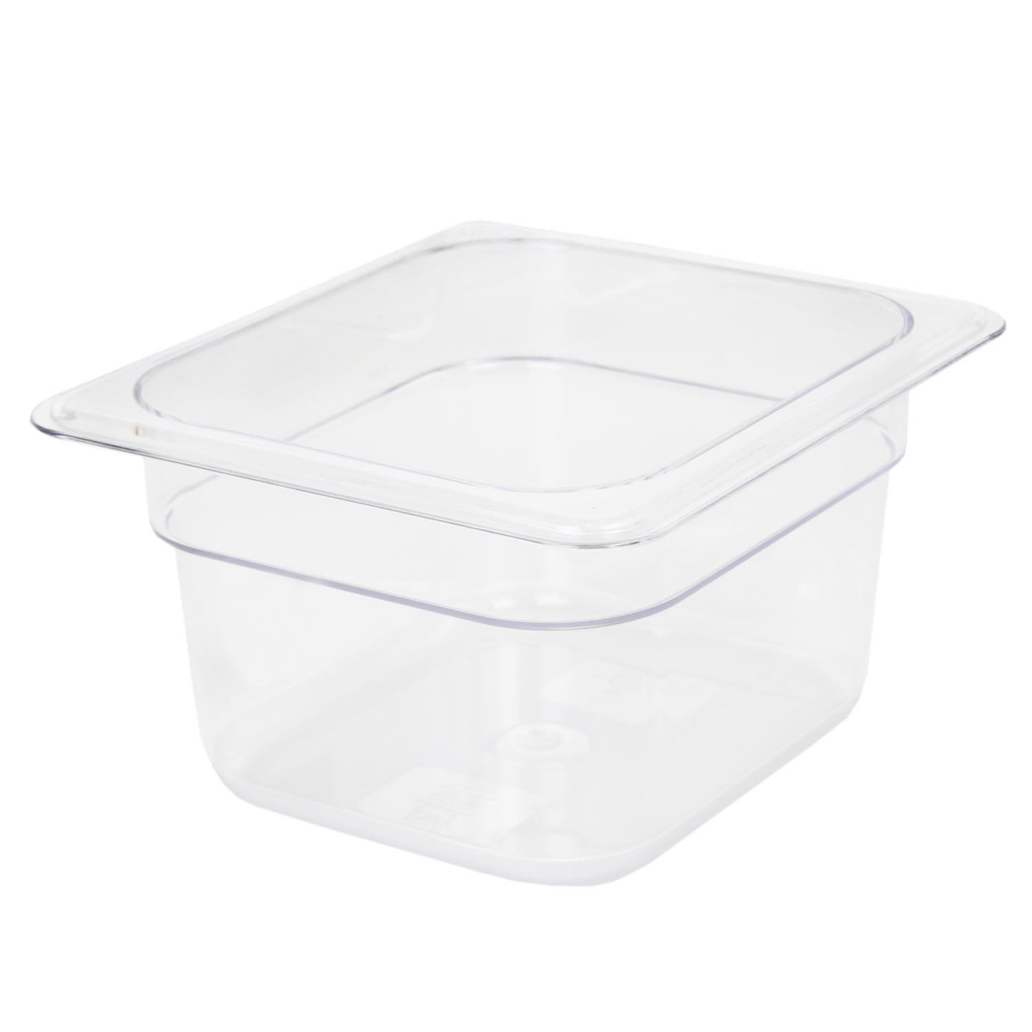 Excellante 849851007246 Deep Polycarbonate Food Pan, 4'', Sixth Size