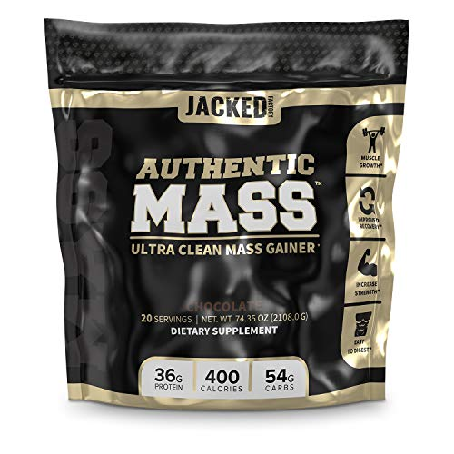Authentic Mass Gainer – Clean Weight Gainer Protein Powder for Lean Muscle Growth – Muscle Building Bulking Mass Builder for Strength & Size – Post Workout Recovery, Chocolate Flavor – 4.4LB