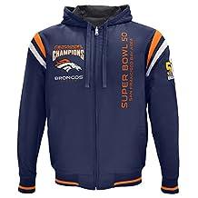 Denver Broncos NFL Men's Super Bowl 50 Champions Reversible Hooded Varsity Jacket
