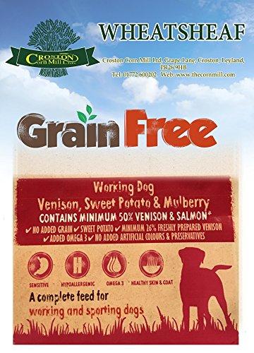 Wheatsheaf 15kg Grain Free' VENISON with SALMON, SWEET POTATO & MULBERRY Working Dog Food
