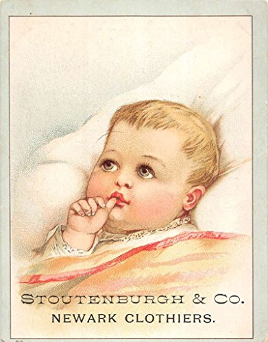 Newark New Jersey Stoutenburgh Baby In Bed Brundage Antique Trade Card - Stores In De Newark