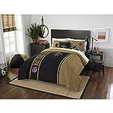 New Orleans Saints Comforter Set Bedding Shams NFL 3 Piece Full Size 1 Comforter 2 Shams Football Linen Applique Bedroom Decor Imported Sold byMBG.4u.