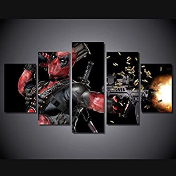Deadpool hero movie marvel print poster canvas decoration 5 pieces