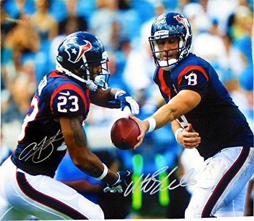 Autographed Arian Foster Photograph - Matt Schaub & 16x20 - Autographed NFL Photos