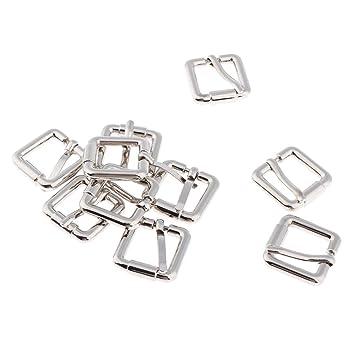 B Baosity 20 Unids Hebilla Deslizante Triangular Triple Metálico Accesorios para Fabricación de Bolso Mochila Equipaje - 1.5x1.5cm, Estilo 3-10pcs: ...
