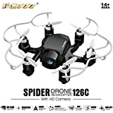 Owill FQ777 126C MINI Spider Drone HD Camera 3D Roll One Key Return Dual Mode Convenient to Carry (Black)