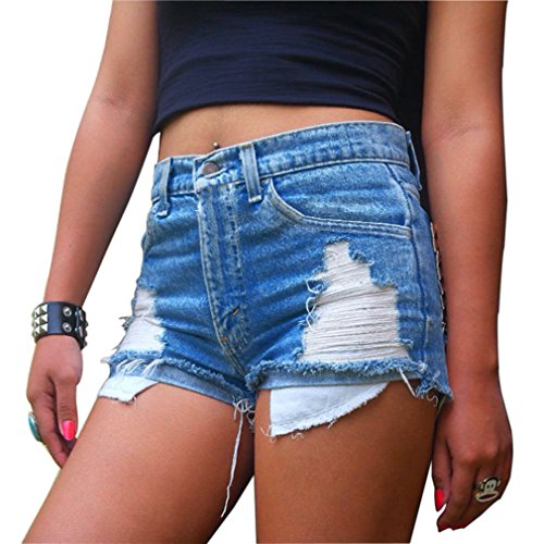 Womens Juniors Distressed Ripped Shorts product image