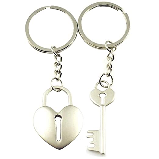 247f3fcce9e DreamsEden Cross Arrow Piece Love Heart Lock Key Couple Keychains (Gift Box  & Greeting Card) Bag Key Rings Key Chain Gift for Valentine Wedding ...