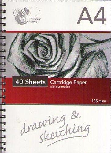 Blocco di carta per disegno a carboncino, rilegato a spirale, A4, 40 fogli 151