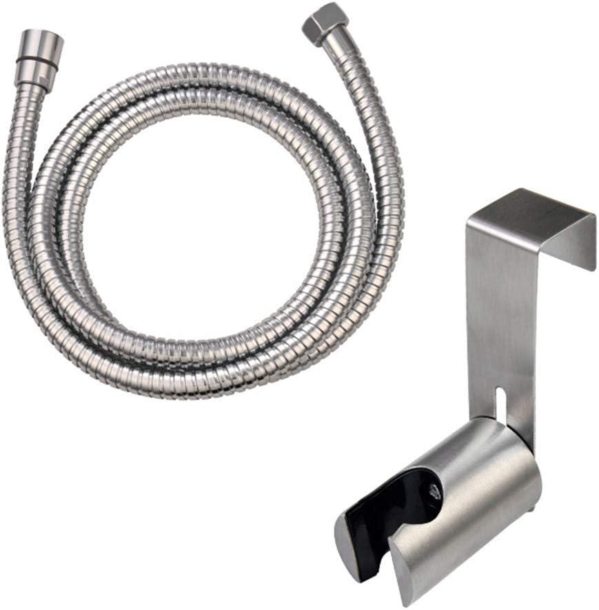 acabado cromado ajuste est/ándar universal ZOTTI 2 arandelas incluidas 1,25 m Manguera de ducha de repuesto de acero inoxidable de alta calidad resistencia a la presi/ón
