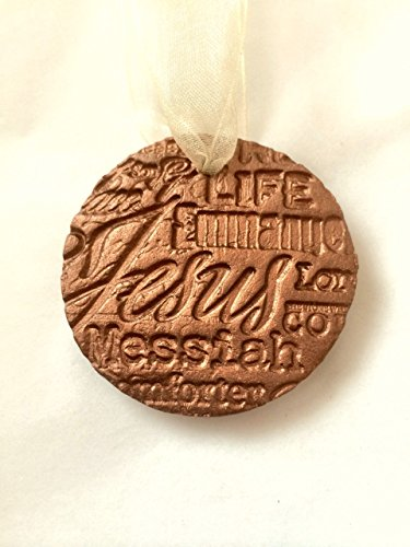 Christian Essential Oil Diffuser Ornament | Christmas Diffuser Ornament | Terracotta Aromatherapy Stone | Jesus Christ Ornament