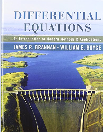 Differential Equations: An Introduction to Modern Methods and Applications 1st Edition with Student Solutions Manual Set